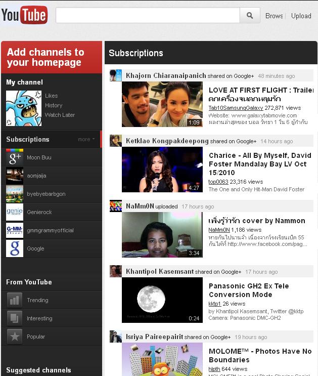 La nueva interfaz de youtube integrada con Google Plus (imágenes)