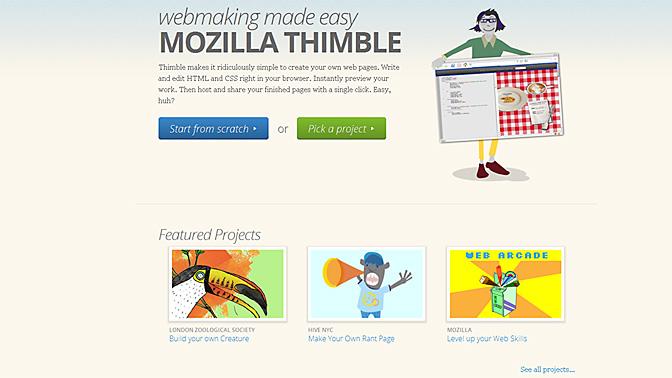 Crea un sitio web con Thimble