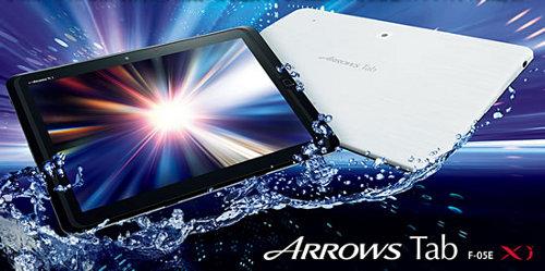 Fujitsu Arrows Tab F-05E un tablet resistente al agua