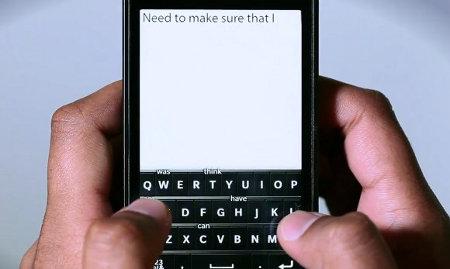 RIM muestra el teclado virtual de BlackBerry 10