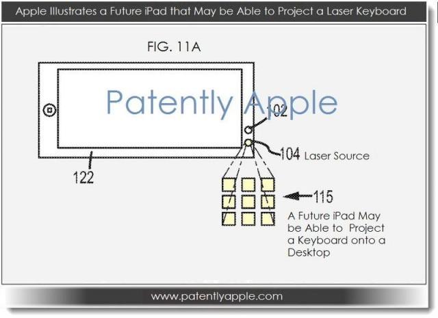 Apple patentaría teclado láser para los nuevos iPads